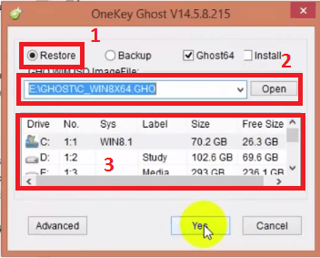 Bung file Ghost