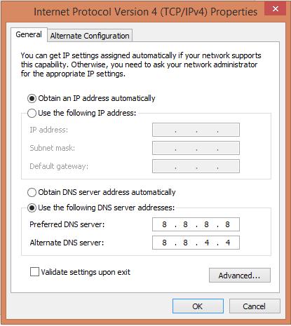 Chỉnh DNS